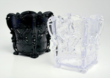Butterfly Nail File Storage Holder Container (Black or Clear)