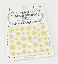 Gold Spider & Spider Web Halloween Nail Stickers - Easy 'Peel & Stick'!