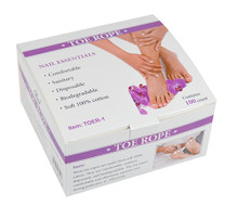 Disposable Toe Separator Rope for Pedicures (Box of 100PCS) - 100% Cotton!