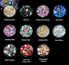 3D Nail Art Jewellery Rhinestone Bead Mix Pot (11 Styles Available)