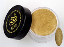INM NORTHERN LIGHTS HOLOGRAPHIC GOLD GLITTER ACRYLIC POWDER