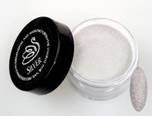 inm holographic silver glitter acrylic nail powder 15gm