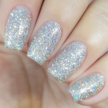 Kiara Sky Coloured Dip Powder - D437 Time For A Selfie. Holographic Glitter.