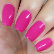 Kiara Sky Coloured Dip Powder - D453 Back To The Fuchsia (28gm). Pink Creme Nails.