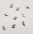 Large Clear AB Glass Diamond Flat Back Rhinestones for Nail Art (10PCS Per Bag) - 5mm X 8mm