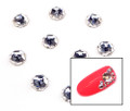 Large Clear Glass Round Flat Back Rhinestones for Nail Art (10PCS Per Bag) - 6mm X 6mm