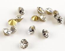 Crystal Clear Glass Chaton V Rhinestones for Nail Art Decoration (100PCS Per Bag) - SS22 (5mm)
