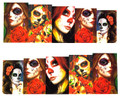 Elegant Woman Skull 'Day of The Dead' for Nail Art (Water Decals) - Great for Halloween! Calavera