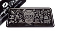Best Sugar Skull Halloween Stamping Plate for Nail Art. Pamper Plates at The Nail Shop Australia.