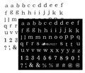 Letters Text & Numbers Nail Art Stickers (Black or White). Create  Ouija Board Nails for Halloween! Complete Alphabet!
