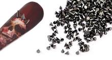 2MM Gunmetal Grey Metal Nail Art Punk Rock Cone Spikes - 20PCS Per Bag