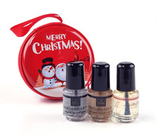 INM Out The Door Holo Top Coat Mini Kit Christmas (+ Optional Oil)