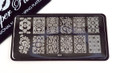 Pamper Plates Professional Nail Stamping Plates - Design #32 (Paisley, Filigree & Mandala Designs)