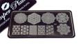 Pamper Plates Professional Nail Stamping Plates - Design #41 (Geometric & Large Mandala Designs)
