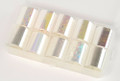 Transparent Rainbow Glass Effect Nail Art Transfer Foil Set (10 Designs Per Box)