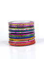 34PCS Bulk Mixed Coloured Striping Nail Art Tape (1MM)