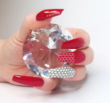 Large Crystal Clear Glass Ornament 6cm - Ideal for Nail Art Photography!