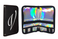 En Vogue Professional Nail Wallet (Black & Holographic). Nail Brush Case.