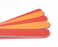 Red & Peach Straight Mylar Files 80/100 Grit (Coarse) for Acrlylic & Gel Nails