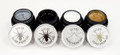 Spider Gel Nail Art (Silver, Gold, Black, & White)