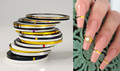 24PCS Popular Coloured Striping Nail Art Tape (0.5MM, 1MM, 1.5MM, 2MM, 2.5MM, 3MM) - Gold, Silver, Black & White