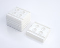 200PCS X Disposable White Mixing Well Trays (4 Wells) For Ink/Gel/Paint/Nail Art