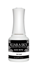 Kiara Sky Gel Polish NON WIPE Top Coat (15ml Bottle) - No Tacky Layer!