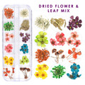 Mini Coloured Dried Flowers & Leaf Mix for Nail Art - Great for Milk Bath Nails!