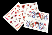 3PCS Best Spooky Nail Water Decals (Blood, Scars & Clowns) *Halloween Special*