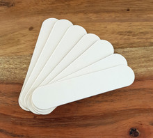 Mini White Emery Boards (9cm X 1.9cm). Promotional Nail Files.