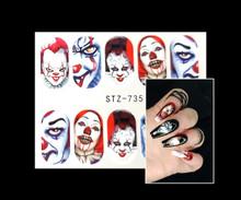 IT Clown Nail Decals