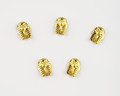 Small Gold Egyptian Mask Nail Charms for Nail Art (5PCS Per Bag)