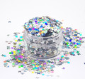 Holographic Silver Laser Butterfly Glitter for Nail Art (10ml Pot)