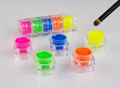 5PCS X Nail Artistry Neon Pigment Powder Kit + FREE Ombre Brush