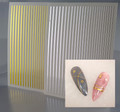 Flexible Gold & Silver Line Nail Stickers