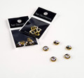 Vintage Style Round Metal Nail Art Jewel Charms (5PCS/BAG)