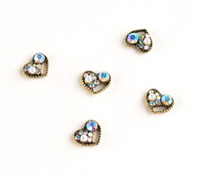 Vintage Style Heart Metal Nail Art Jewel Charms (5PCS/BAG)