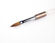 Nail Artistry Designer Kolinsky Sable Acrylic Nail Brush Oval #10