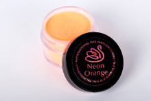 INM Northern Lights Holographic Neon Orange Glitter Acrylic Nail Powder 15gm