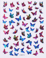 Laser Butterfly Nail Stickers - SET #3 (Ultra Thin Peel & Stick)