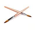 Professional Kolinsky Sable Acrylic Brush Oval Long #10 - Soft  Apricot Pearl Handle