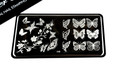 Pamper Plates Professional Nail Stamping Plates - Design #48 (Butterfly Bliss)
