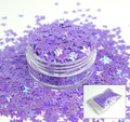 TNS Purple Iridescent Butterfly Glitter for Nail Art 3mm - 1oz Bag