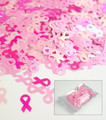 Pink Ribbon Glitter Mix for Nail Art (Breast Cancer Awareness) 8mm - 1oz Bag