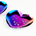 Rainbow Heart Metal Nail Art Decoration Dish