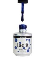 Lac It!™ Advanced Formula Gel Polish 15ml - Aquila (Starry Night Collection). Transparent Blue Gel Polish with Glitter.