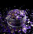 TNS Purple & Gold Celebrations Glitter Mix for Nail Art - 1oz Bag
