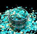 TNS Aqua & Gold Celebrations Glitter Mix for Nail Art - 1oz Bag