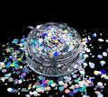 TNS Holographic Silver Glitter Bomb Mix for Nail Art - 1oz Bag