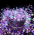 TNS Purple Pizzazz Glitter Mix for Nail Art - 1oz Bag